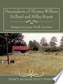 Descendants of Thomas William Holland and Milley Boyett