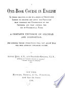 A One-book Course in English