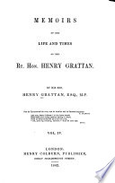 Memoirs Of The Life And Times Of The Rt Hon Henry Grattan