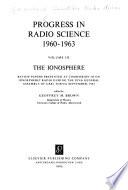 Progress in Radio Science