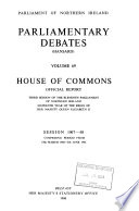 Parliamentary Debates (Hansard) House of Commons Official Report