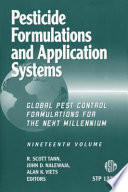 Pesticide Formulations And Application Systems Book PDF