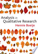 Analysis in Qualitative Research Book