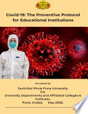 Covid 19  The Preventive Protocol for Educational Institutions