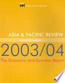 Asia and Pacific Review 2003/04