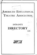 Directory of the American Educational Theatre Association  Inc
