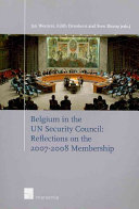 Belgium in the UN Security Council Book