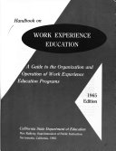 Handbook on Work Experience Education Book