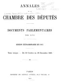 Annales de la Chambre des députés ...