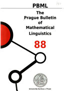 The Prague Bulletin of Mathematical Linguistics