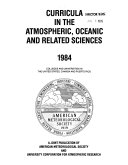 Curricula in the Atmospheric, Oceanic and Related Sciences