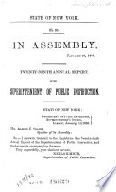 Annual Report Of The Superintendent Of Public Instruction Of The State Of New York