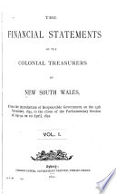 The Financial Statements of the Colonial Treasurers of New South Wales