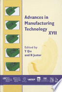 Advances in Manufacturing Technology XVII 2003 Book