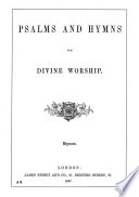 Psalms and Hymns for Divine Worship Book
