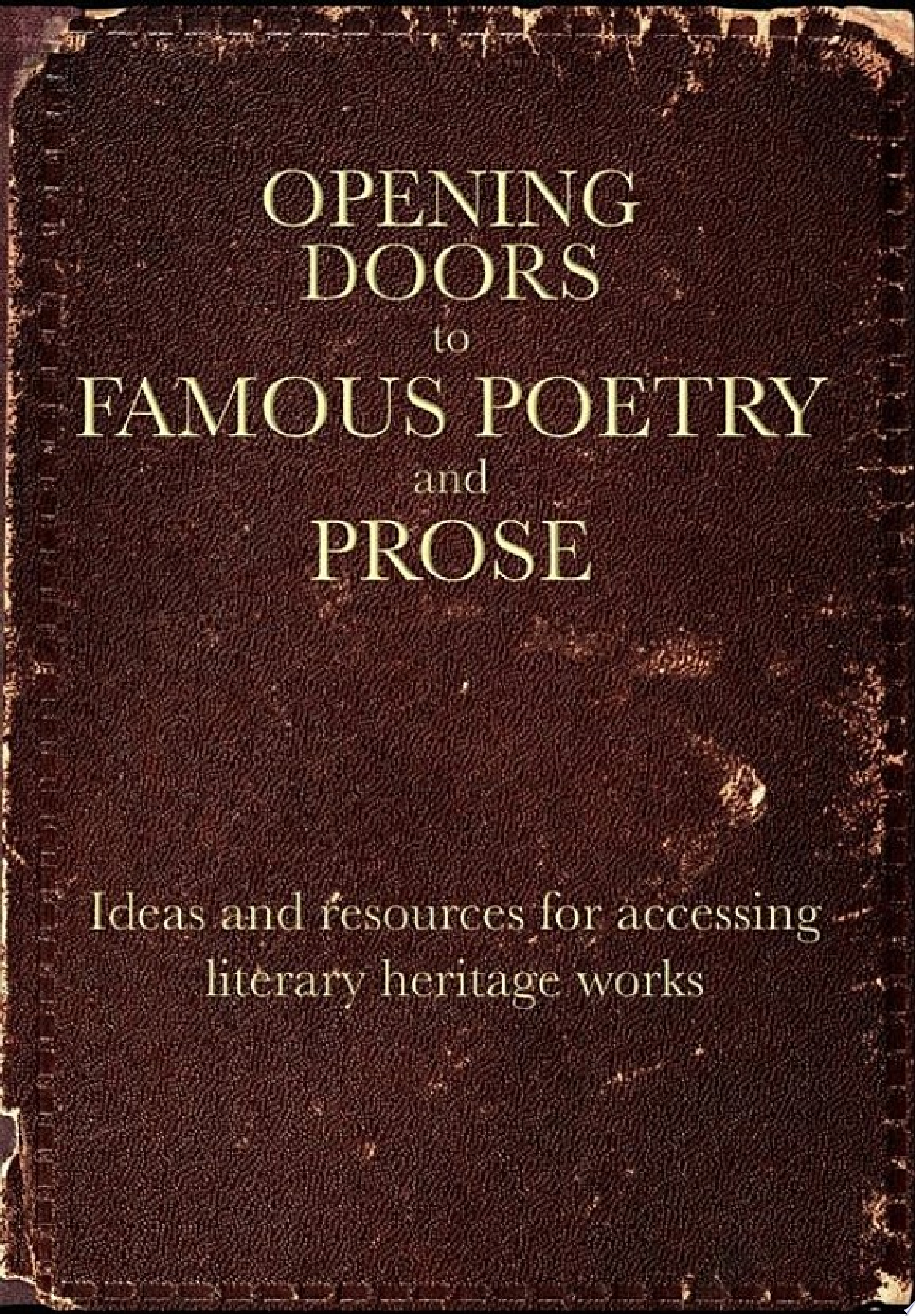 Opening Doors to Famous Poetry and Prose
