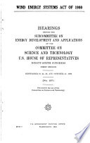 Wind Energy Systems Act of 1980