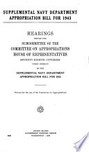 Navy Department Appropriation Bill for 1944