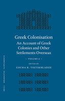 Greek Colonisation
