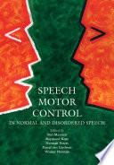 Speech Motor Control Book PDF