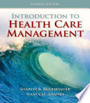 Cover of Introduction to Health Care Management