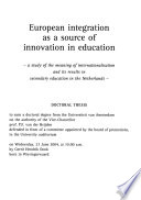 European Integration as a Source of Innovation in Education
