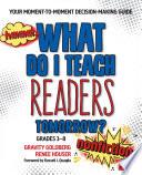 What Do I Teach Readers Tomorrow  Nonfiction  Grades 3 8