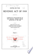 Notes on the Revenue Act of 1918