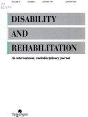 Disability and Rehabilitation Book
