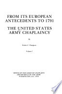 The United States Army Chaplaincy Book