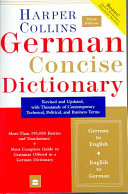 Cover of Collins German Concise Dictionary, 3e