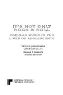 It s Not Only Rock   Roll