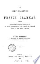 The Self examiner on French Grammar