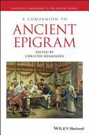 Pdf A Companion to Ancient Epigram Telecharger