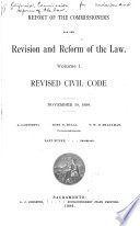 Supplemental Report of the Commissioners for the Revision and Reform of the Law