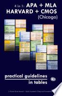 4 in 1  APA   MLA   HARVARD   CMOS  Chicago  Practical Guidelines in Tables