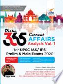 Disha 365 Current Affairs Analysis Vol. 1 for UPSC IAS/ IPS Prelim & Main Exams 2020