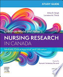 Study Guide For Lobiondo Wood And Haber S Nursing Research In Canada 5e E Book