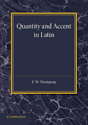 Quantity and Accent in Latin