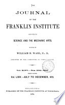 The Franklin Journal  and American Mechanics  Magazine Book
