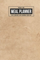 Bright Line Meal Planner Diet Weight Loss Journal Food Log Book