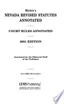 Nevada revised statutes, annotated  , Band 5,Teil 1