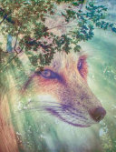 Forest Wolf Composition Notebook  Blank Sketch Paper