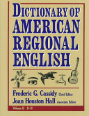 Pdf Dictionary of American Regional English: Introduction and A-C