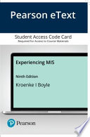 Mylab Mis With Pearson Etext - Access Card - for Experiencing Mis