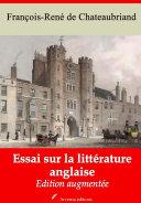 Pdf Essai sur la littérature anglaise Telecharger