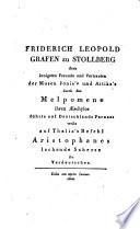 Lysistrata. Ein Lustspiel des Aristophanes. Aus dem Griechischen verdeutscht von D. August Christian Borheck