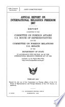Annual Report, International Religious Freedom