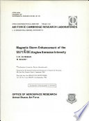 Magnetic storm enhancement of the 5577A [OI] airglow emission intensity
