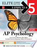 5 Steps to a 5  AP Psychology 2020 Elite Student Edition